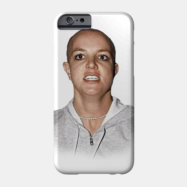britney spears shaved head Phone Case