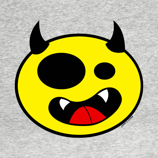 Smiling Devil Face Yellow