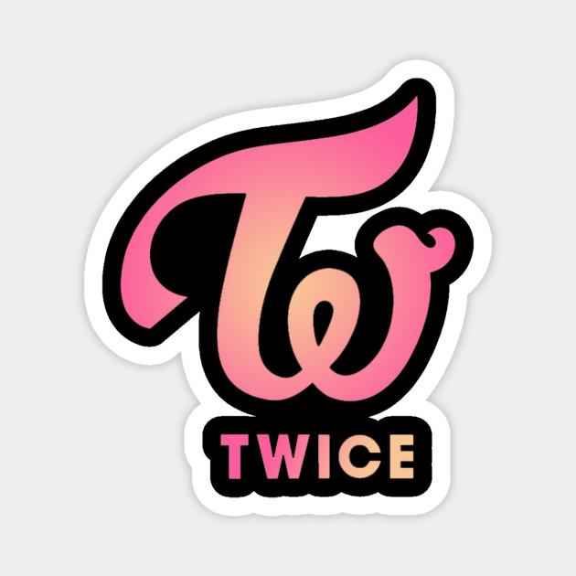 Twice Logo Twice Magnet Teepublic
