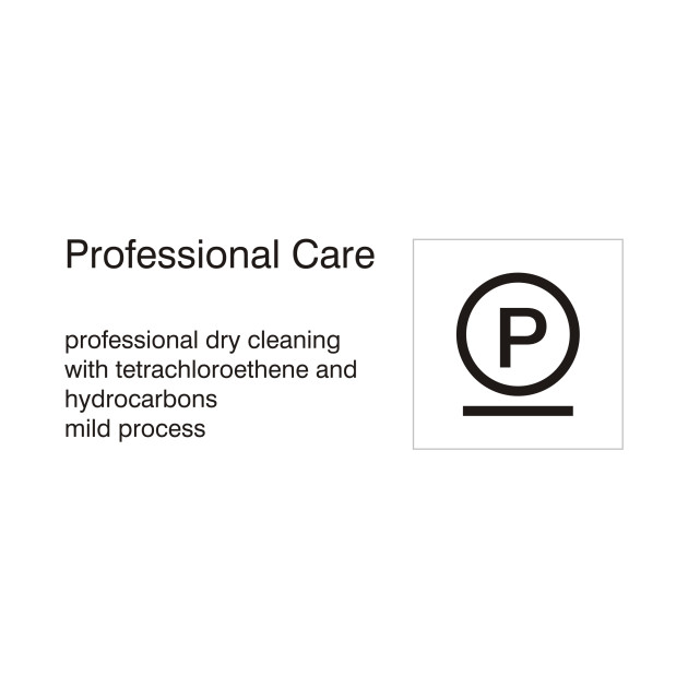 Limited Edition Exclusive Care Symbols Professional Care Dry