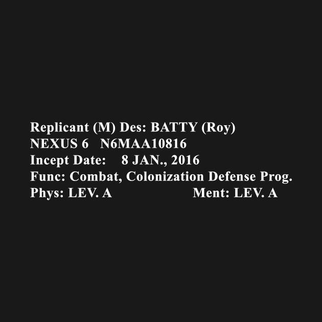 Roy Batty Bio