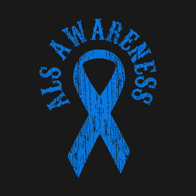 ALS Awareness Month Blue Ribbon Family