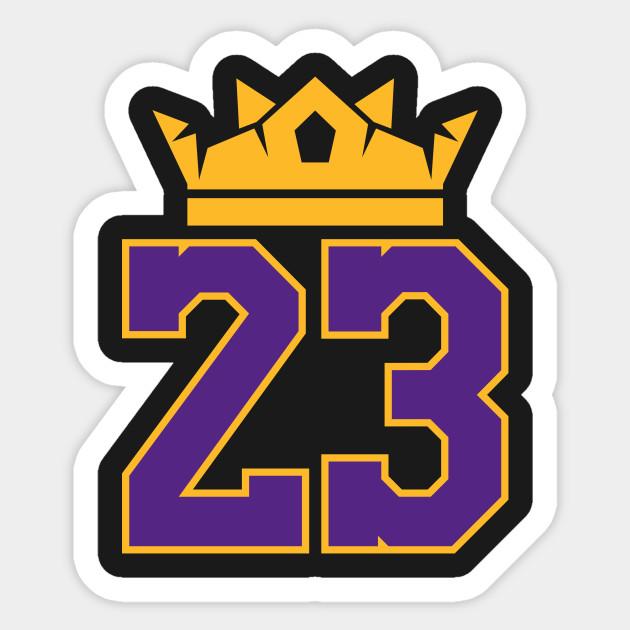 5931c2507e2 King James Lakers 23 - Lebron James - Sticker   TeePublic