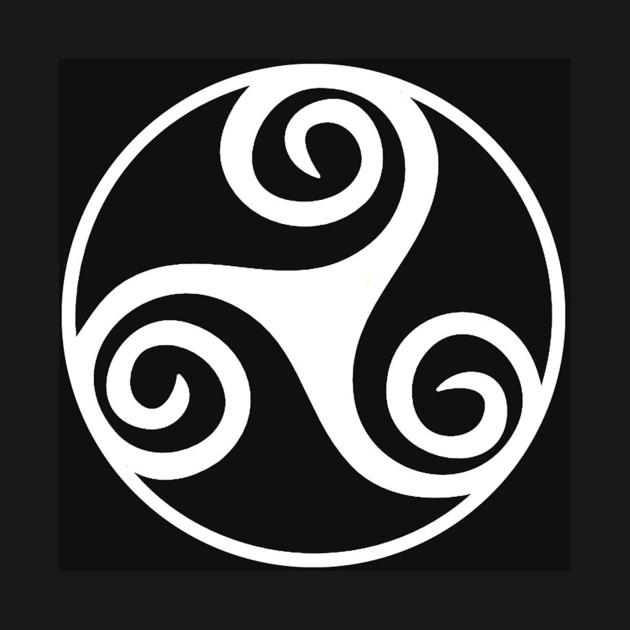 Celtic Triskel White Triskelion Or Triskele Three Legs