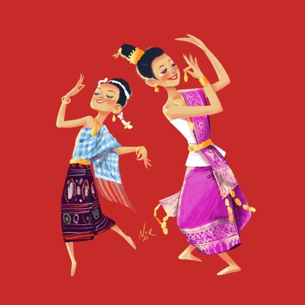 Lao Girls Dancing