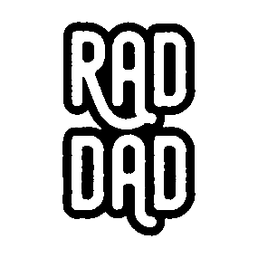 47e3056d0 Rad Dad - White Lettering - Gift for Dad Sticker