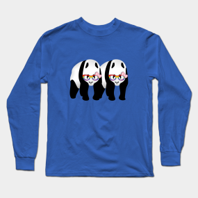 61a5e23b Lesbian Gay Pride Panda Bears Long Sleeve T-Shirt. by mailboxdisco