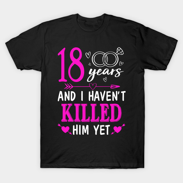 Gifts For 18th Wedding Anniversary: 18th Wedding Anniversary Shirt For Wife From Husband