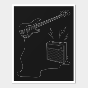 The Invisible Bass Player Wall Art