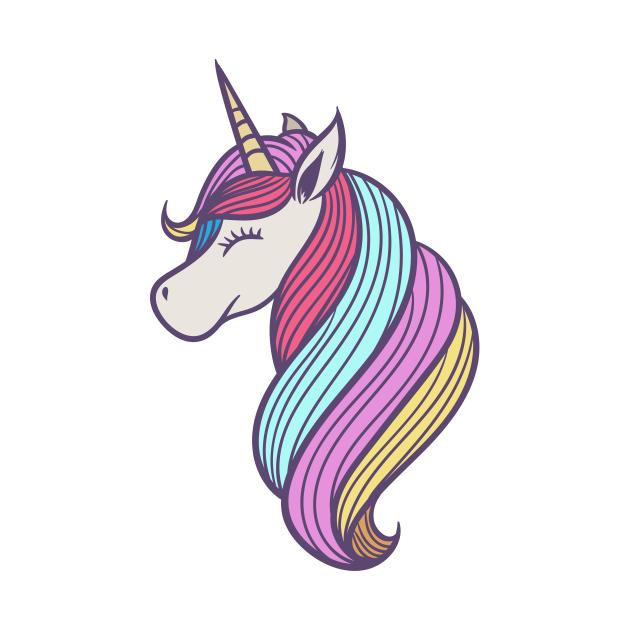 Cute White Unicorn Design