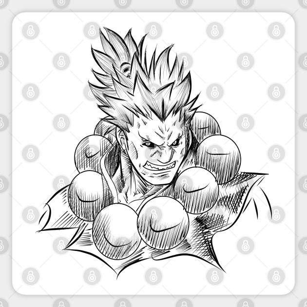 Akuma The Street Fighter Hadouken Sticker Teepublic