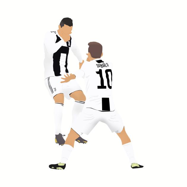"""Ronaldo and Dybala """"Dybala Mask"""" celebration"""