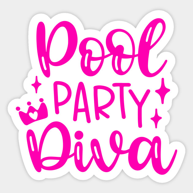 Funny Swimming Princess Diva Swim Summer Vacation Swimmer Pool Party