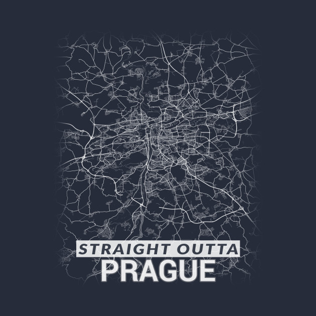 Straight Outta Prague Czech Republic Praha City Map