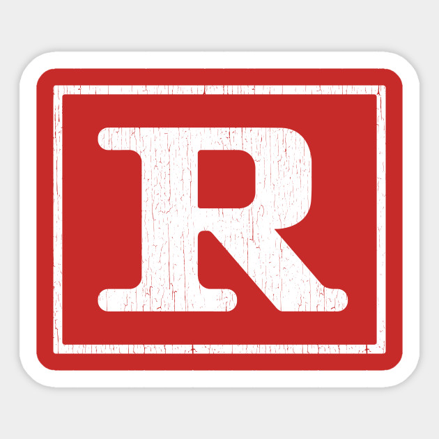 Rated R Restricted Sticker Teepublic