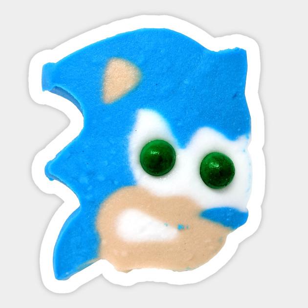 Sonic The Hedgehog Ice Cream Head Sonic Sticker Teepublic