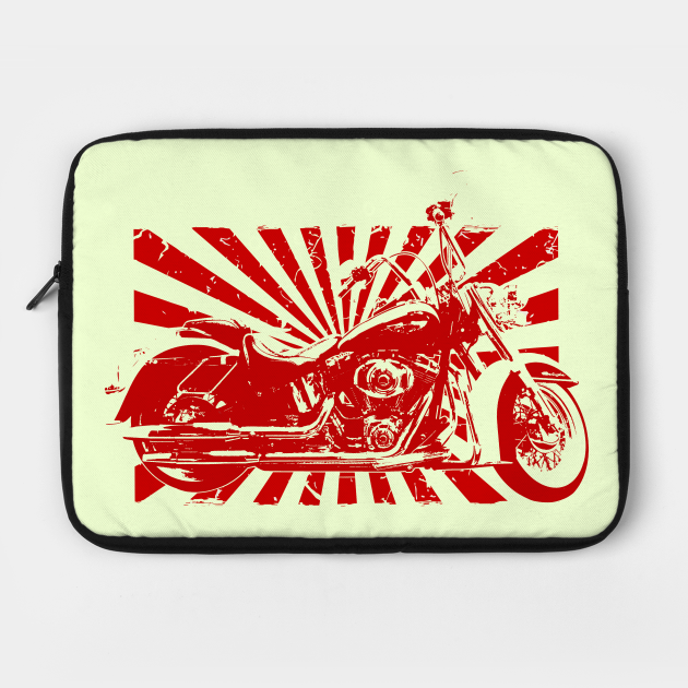 Motorcycle Red On