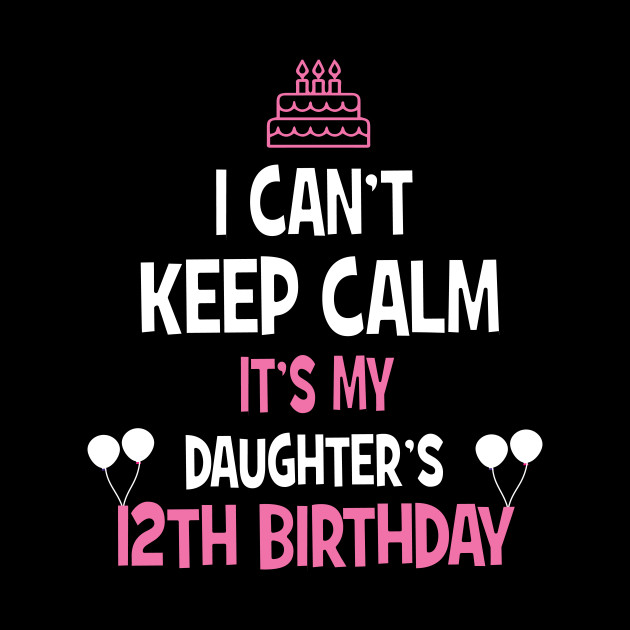 12th Birthday Girl T Shirt 12 Years Old Party Gift