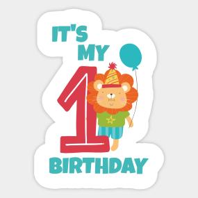 Girl 1st Birthday Stickers | TeePublic