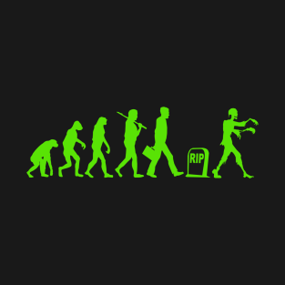 Funny Zombie Evolution t-shirts