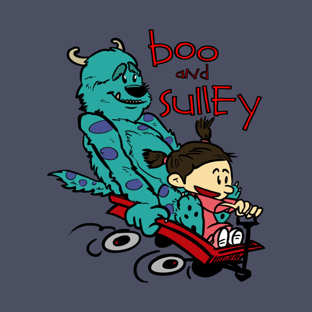 2267d3b4f Boo and Sulley as Calvin and Hobbes - Monsters Inc - T-Shirt | TeePublic