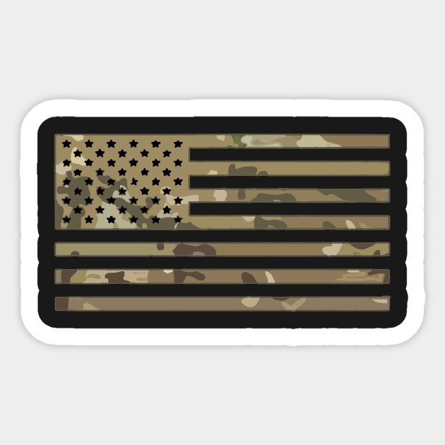 US Camo Flag - Camouflage - Commando - USA - Patriotic Gift - Us ... c31b18d7bc8