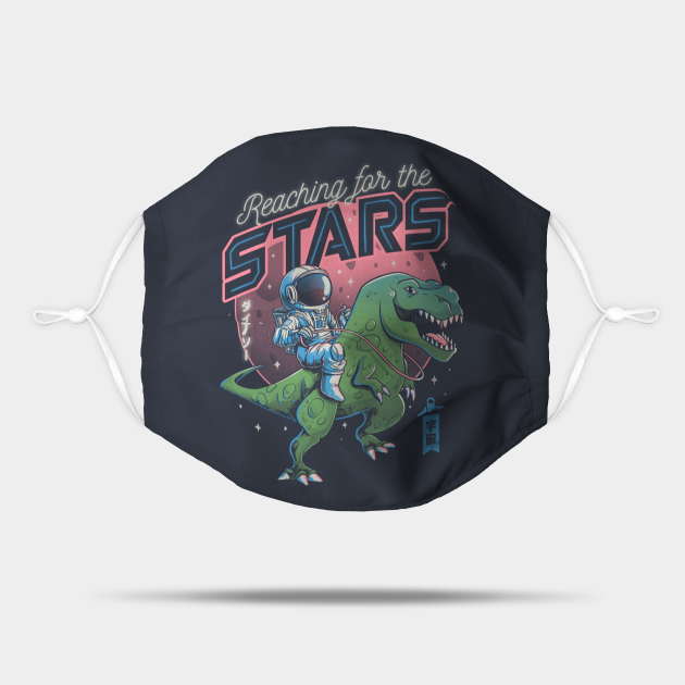 Reaching for the Stars Cute T-Rex Astrounaut Gift