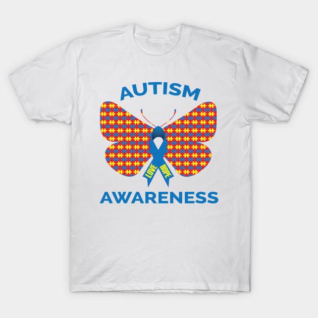 464c911d810 Autism Awareness Puzzle Piece Butterfly Ribbon