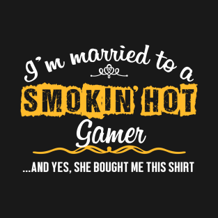 For Gamers Husband Funny Gift T Shirt