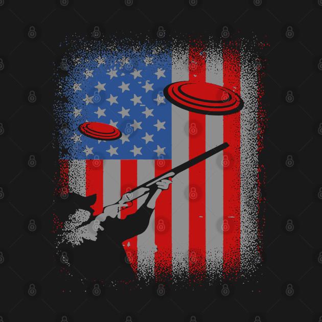 Trap Shooting USA Flag