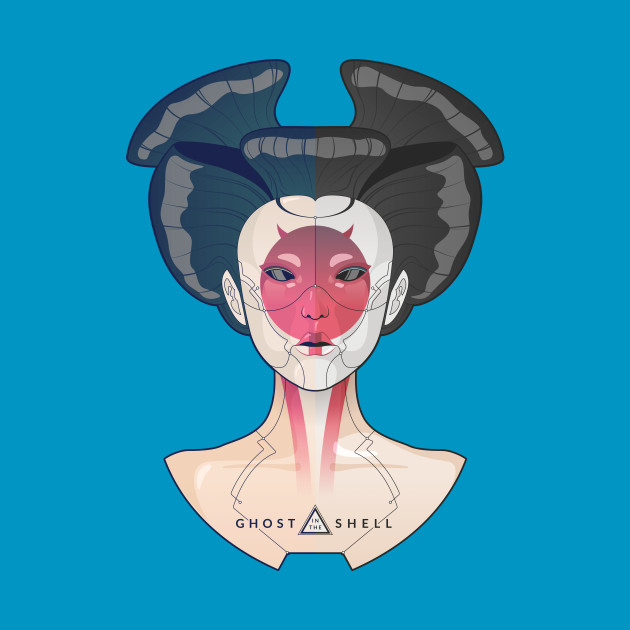 ghost in the shell geisha bot ghostintheshell t shirt teepublic. Black Bedroom Furniture Sets. Home Design Ideas
