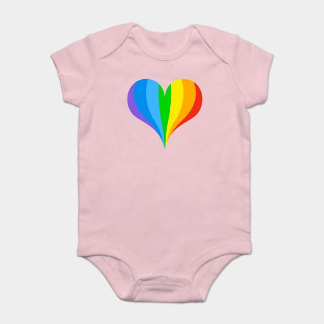 2e4d04e6afa2 Rainbow Heart - Rainbow - Onesie