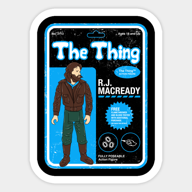The Thing The Thing Sticker Teepublic