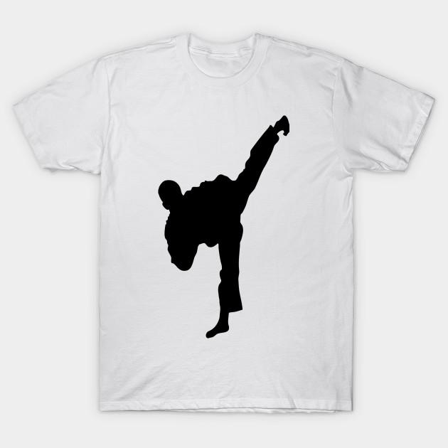 Taekwondo High Kick Silhouette