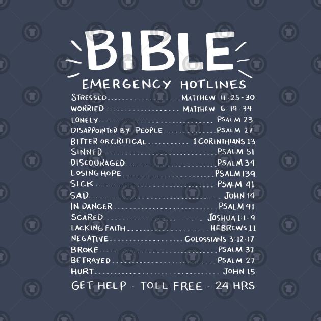 Bible Emergency Hotlines