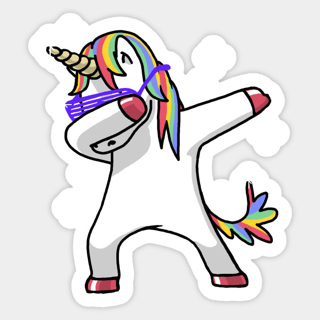 Dabbing Unicorn Shirt Dab Hip Hop Funny Magic