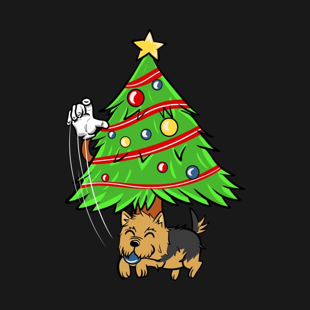 Yorkshire Terrier Xmas Ornament Christmas Yorkshire Terrier T