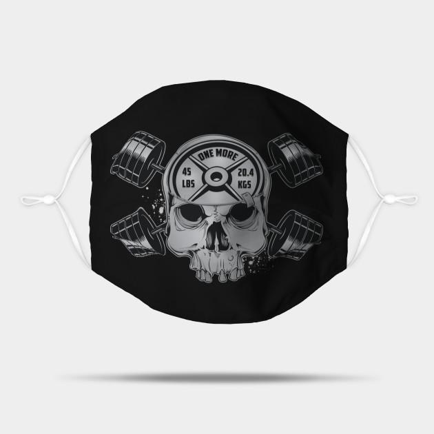 Heavy Metal Skull & Barbell Crossbones