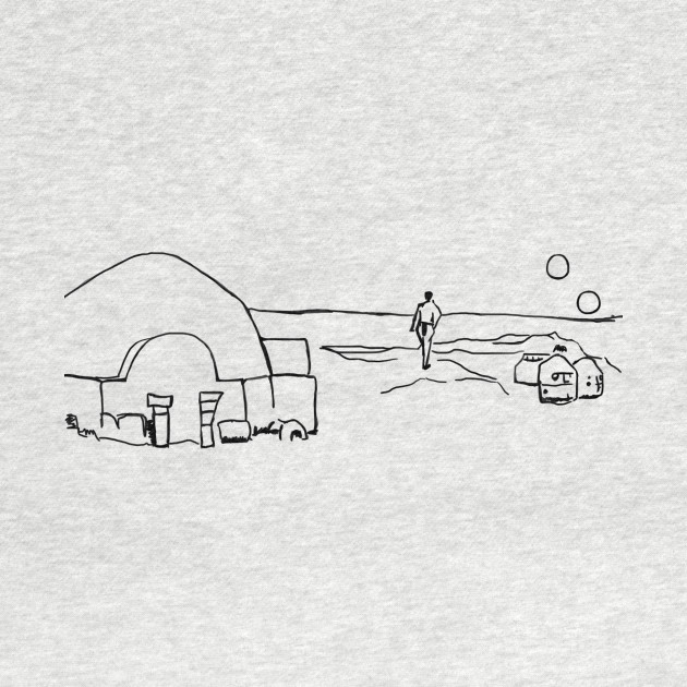 Tatooine line art