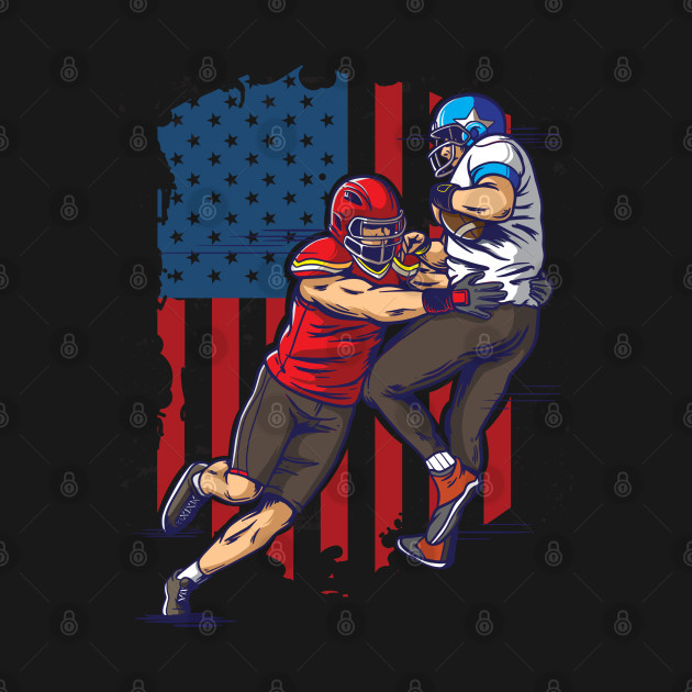 Rival American Football Teams In Match