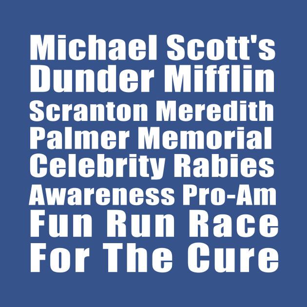 Michael Scott's Dunder Mifflin Fun Run Shirt T-Shirt  (Large Print)