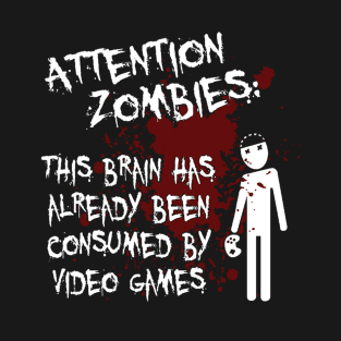 Attention Zombies t-shirts