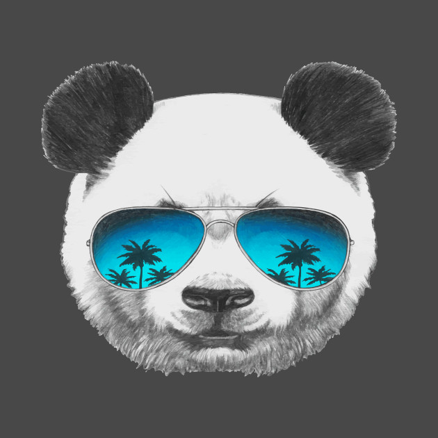 Cool Panda wearing sunglasses - Panda - T-Shirt | TeePublic