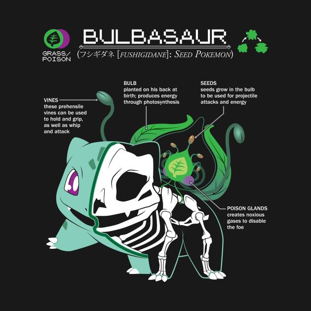 Bulbasaur Anatomy Pokemon Long Sleeve T Shirt Teepublic