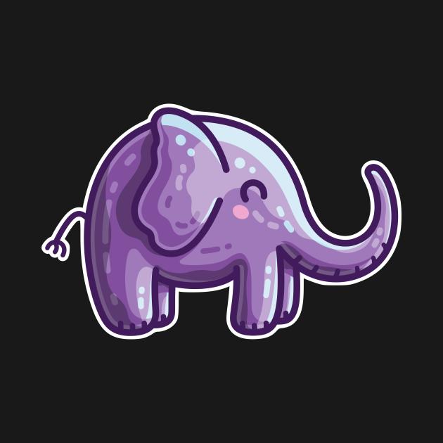 Kawaii Cute Purple Elephant