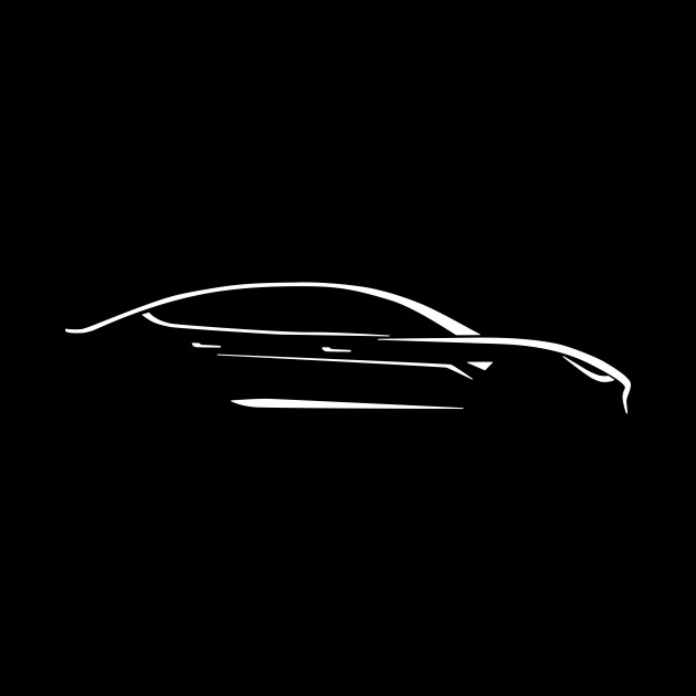 Fast Electric Car Abstract Drawing