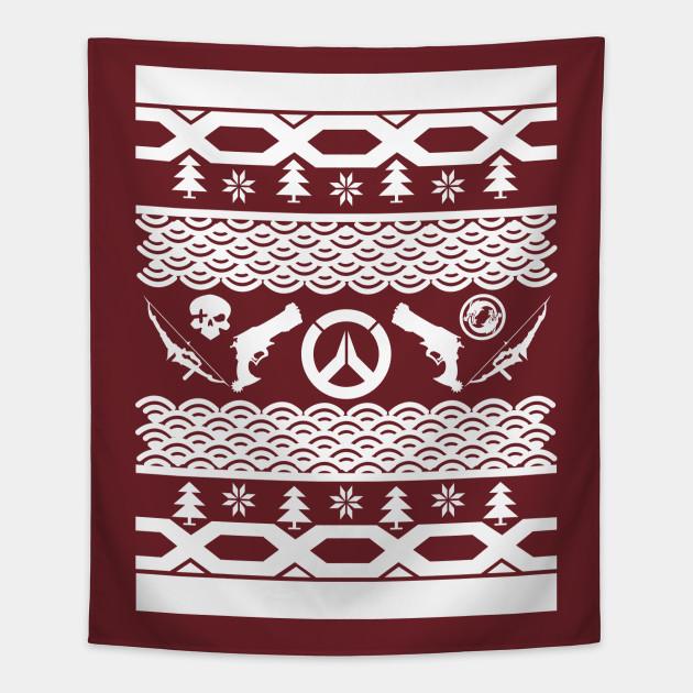 Mchanzo Ugly Christmas Sweater Overwatch Tapestry Teepublic