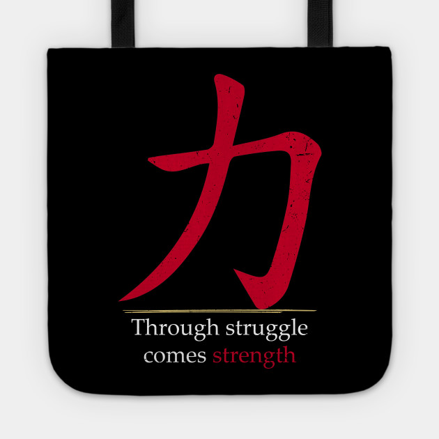 Japanese Character For Strength In Stylized Japanese Red Hanzi Or