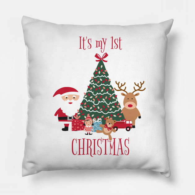My First Christmas.It S My First Christmas Tree Santa And Reindeer