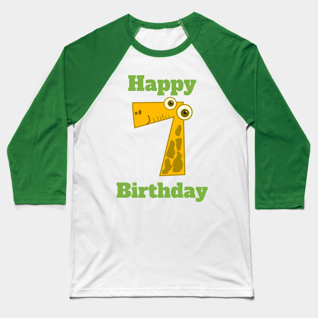 Happy 7th Birthday Seventh For Boys Or Girls Baseball T Shirt